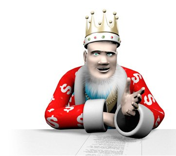 The King is reporting the latest news, promotions and bonus codes from the online poker world. Seen here explaining a point from his studio.