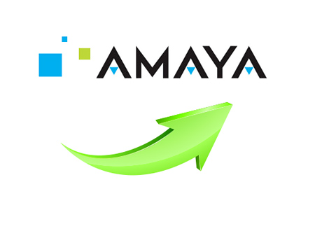 Amaya Stock Growth - Illustration - Concept - Green Arrow