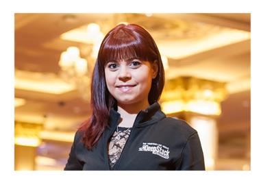 Annette Obrestad representing the Sands Casino Poker Room - Promo photograph
