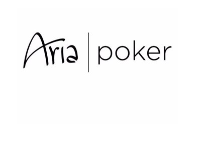 Aria Poker - Hotel logo in black on white.  The year is 2017.