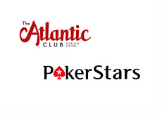 The Atlantic Club Hotel and Casino logo and Pokerstars logo