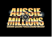 crown poker event - aussie millions - event logo