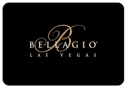 Bellagio Hotel Logo on black background