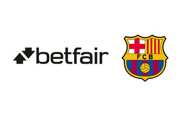 Betfair company logo and Barcelona FC club badge - Year 2016 - Partnership
