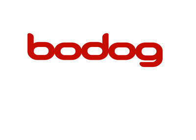 The Bodog company logo in red on white background.  Year 2017.