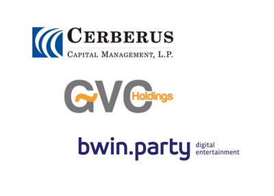 Cerberus Capital Management, GVC Holdings and Bwin.Party Digital Entertainment - Company logos