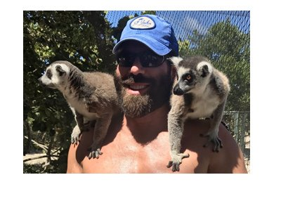 Dan Blizerian getting close to the endangered wildlife. Social media photo.