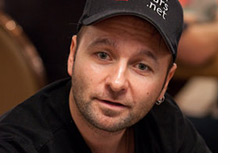 Daniel Negreanu in his trademark pose