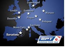 european poker tour - barcelona - ept - map of europe