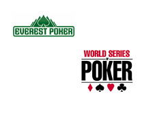 -- Everest Poker logo next to the WSOP logo - World Series of Poker --
