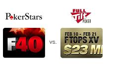 -- Pokerstars F40 vs. Full Tilt FTOPS XV --