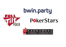 Company logos - Full Tilt Poker, bwin.party, Pokerstars, Kahnawake Gaming Commission
