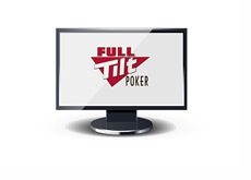 Full Tilt Poker logo on a computer monitor - Illustration