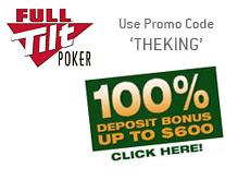 up to 600 dollars free - 100 deposit bonus at full tilt poker room