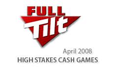 full tilt poker logo - high stakes cash games - april 2008
