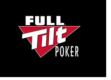 full tilt poker logo on black background