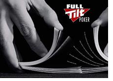 full tilt poker promo image - shuffling cards - company logo