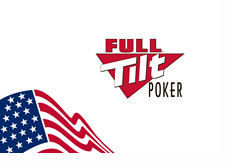 Full Tilt Poker logo next to the U.S. flag