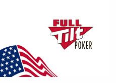 Full Tilt Poker logo next to the U.S. flag