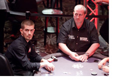 Gus Hansen at the poker table making a move