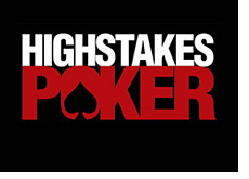 high stakes poker logo - black background --