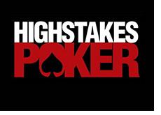 high stakes poker logo - black background --