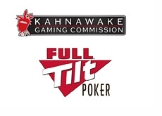 Kahnawake Gaming Commission and Full Tilt Poker logos