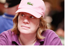 Kathy Liebert in pink at the World Series of Poker 2010