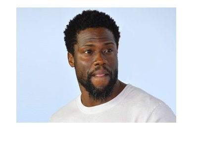 Kevin Hart is looking fresh.  2017 photo. White t-shirt.