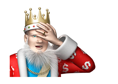 The Poker King is doing a oh-no pose after hearing of Phil Ivey and all the money he has to return.