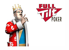 The King is pointing towards Full Tilt Poker logo