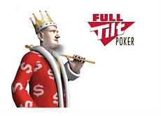 The King next to the Full Tilt Poker logo