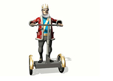The King is arriving on the segway announcing a new poker related record