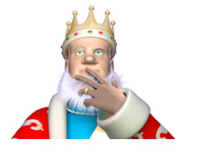 The King is pondering the 23 way chop