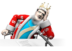 The King is a little taken by the news about the woman who claimed identity theft to recover online gambling losses.
