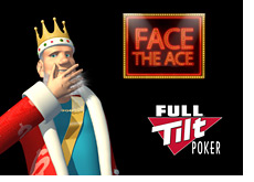 -- the king next to face the ace logo and full tilt poker logo --