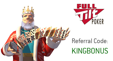 -- The King is presenting the 2010 Full Tilt Referral Marketing Bonus Code to his visitors --