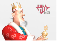 poker king looking at the full tilt logo