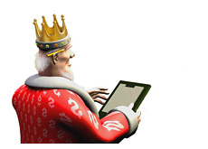 -- Poker King keeping track of tournament scores --