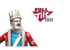 The King is looking at the Full Tilt Poker logo