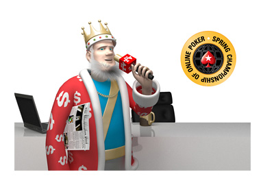The King is doing a report on the 2016 Spring Championship of Online Poker (SCOOP)