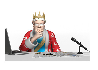 The Poker King is sitting in his office and thinking about the situation between Amaya and the Pokerstars high stake players