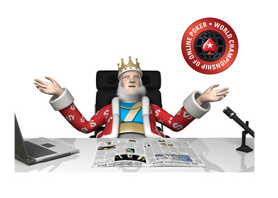 The King is reporting from his office about the upcoming WCOOP 2016 tournament taking place in September