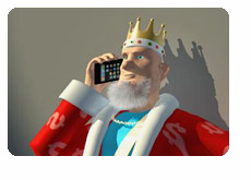 The King is Receiving the Latest News on his IPhone