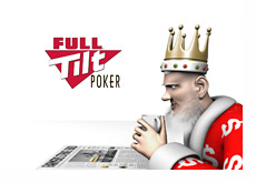 The King is reading about Full Tilt Poker in the newspaper