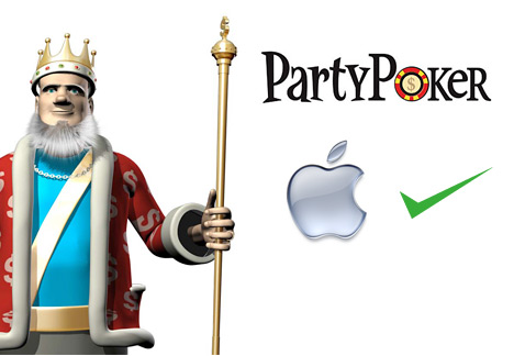 King presenting PartyPoker for Mac software
