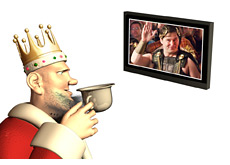 -- king watching phil hellmuth entering wsop europe --