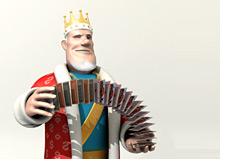 -- poker king shuffling cards --