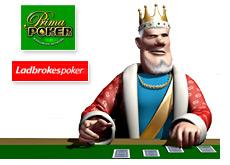 the king is playing poker and reporting on prima poker and ladbrokes