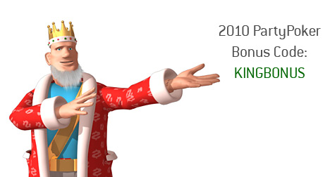 poker king is presenting the 2010 party poker bonus code - theking